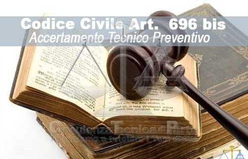 Art. 696-bis. Consulenza tecnica preventiva ai fini della composizione della lite