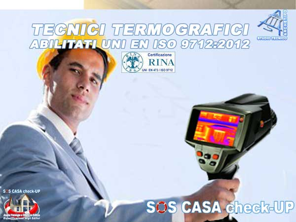 Studio Tecnico Termografico certificato 2° livello uni en iso 9712