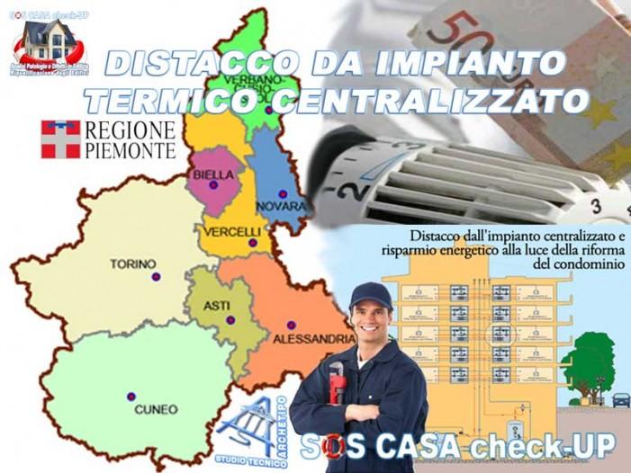 DISTACCO DA IMPIANTO TERMICO CENTRALIZZATO IN PIEMONTE