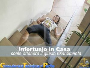 Infortunio in casa e il risarcimento danni da infortunio
