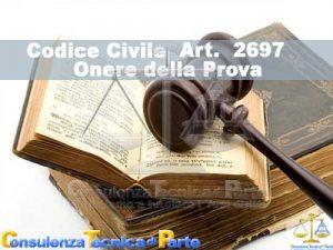 Art. 2697 cc Codice Civile Onere della Prova